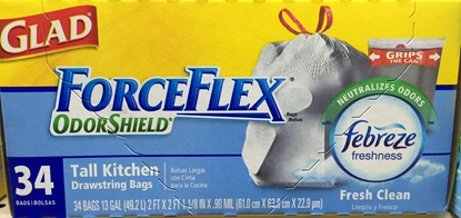 Picture of Glad|ForceFlex trash bags (34bags)