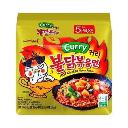 Picture of SAMYANG|辣鸡面咖喱味 140g*5包